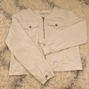 New York & Company jean jacket  (bin:b1)